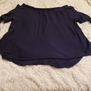 Nation LTD navy blue shirt XS, open arms with ties